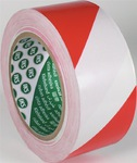 Bodenmarkierungsband F33 PVC rot/weiß Länge 33 m Breite 50 mm